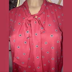 LOFT small pink blouse long sleeve brand new